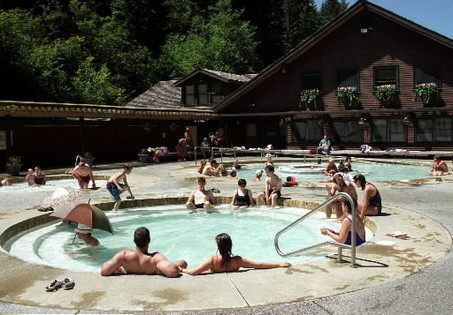 The Sol Duc hot springs