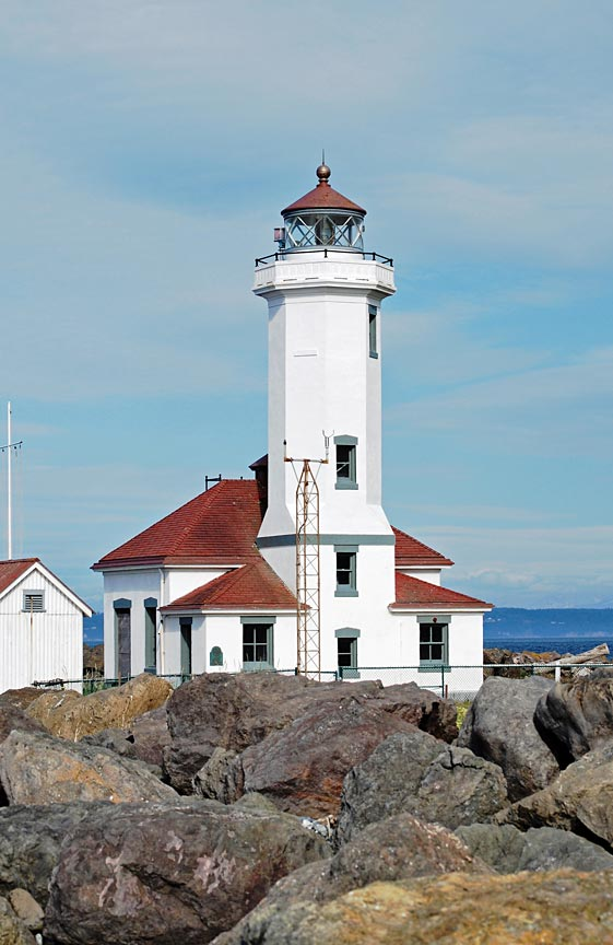Point Wilson Lighthouse at Fort Worden State Park in Port Townsend WA