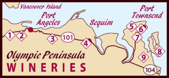 Olympic Peninsula Wineries Map